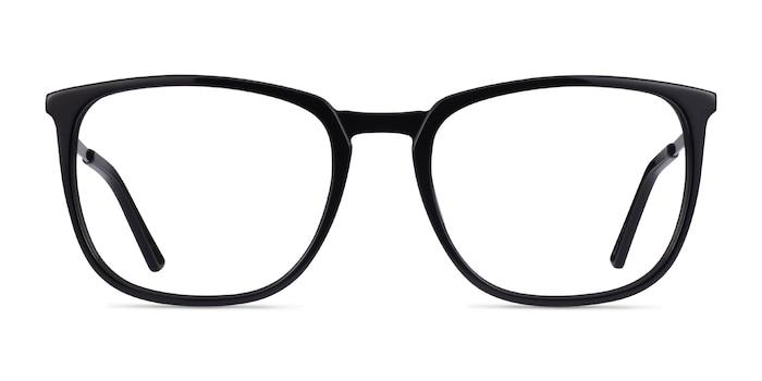 Domenico Black  Silver Acetate Eyeglass Frames from EyeBuyDirect