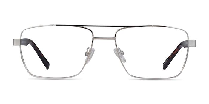 Colton Silver, Clear Blue & Tortoise Acétate Montures de Lunette de vue d'EyeBuyDirect