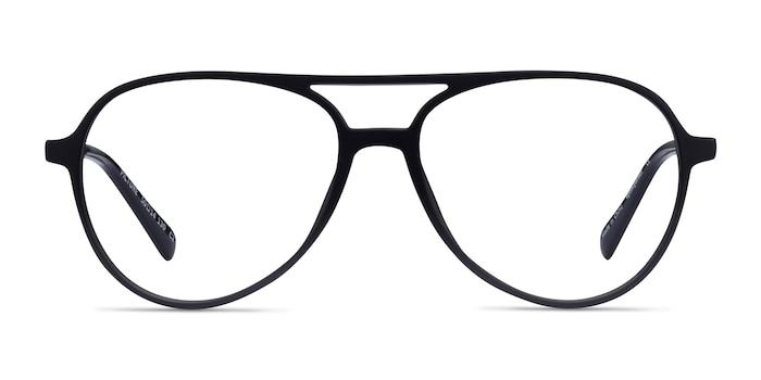 Picture Matte Black & Silver Plastic-metal Eyeglass Frames from EyeBuyDirect