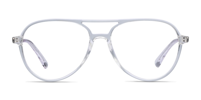 Picture Clear & Silver Plastic-metal Eyeglass Frames from EyeBuyDirect