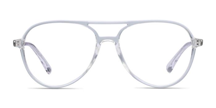 Picture Clear & Silver Plastic-metal Montures de Lunette de vue d'EyeBuyDirect