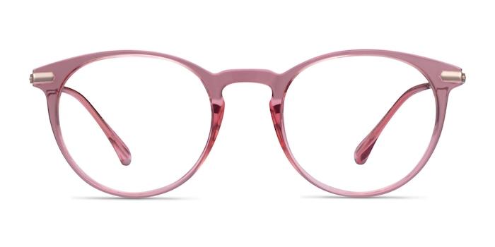 Particle Clear Pink & Rose Gold Plastic-metal Montures de Lunette de vue d'EyeBuyDirect