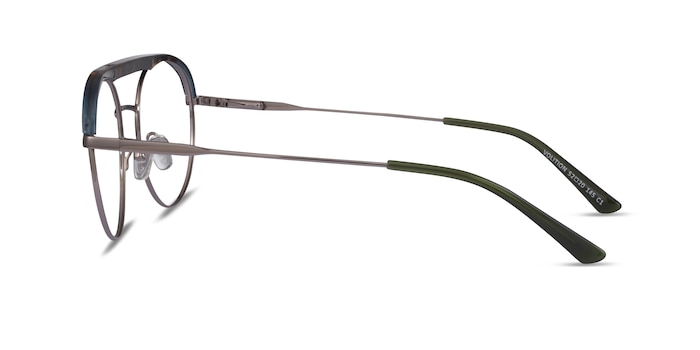 Volition Gunmetal & Tortoise Acetate-metal Eyeglass Frames from EyeBuyDirect