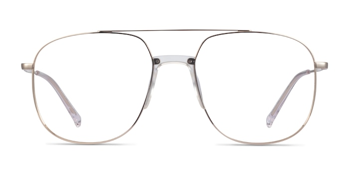 Subject Gold & Clear Acetate-metal Eyeglass Frames from EyeBuyDirect