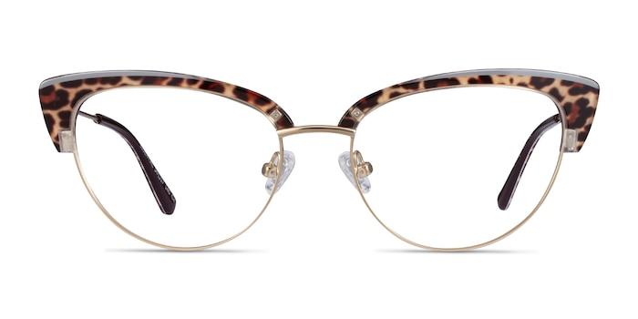 Essential Leopard & Gold Acetate-metal Eyeglass Frames from EyeBuyDirect