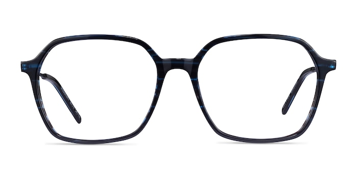 Modernity Striped Blue Acétate Montures de Lunette de vue d'EyeBuyDirect