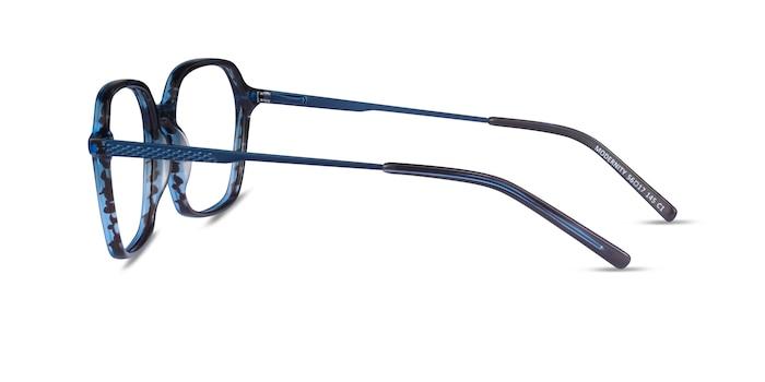 Modernity Striped Blue Acetate Eyeglass Frames from EyeBuyDirect