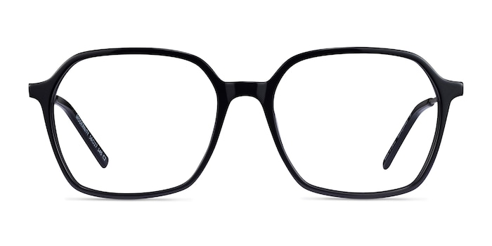 Modernity Black Silver Acetate Eyeglass Frames from EyeBuyDirect