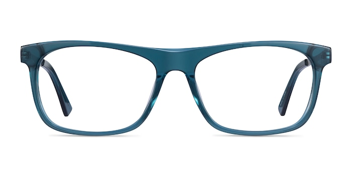 Drop Green  Silver Acetate Eyeglass Frames from EyeBuyDirect