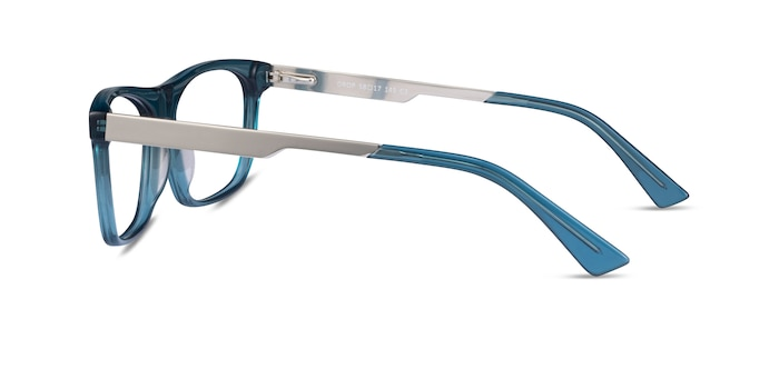 Drop Green  Silver Acetate Eyeglass Frames from EyeBuyDirect