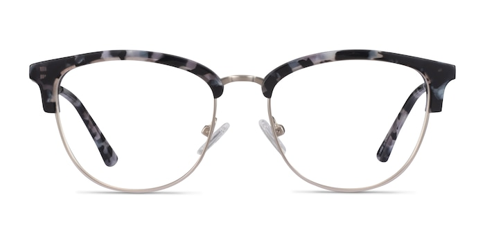 Sophisticated Ivory Tortoise & Silver Acetate-metal Eyeglass Frames from EyeBuyDirect