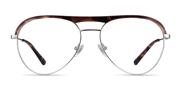 Mission Tortoise & Silver Acetate-metal Eyeglass Frames from EyeBuyDirect