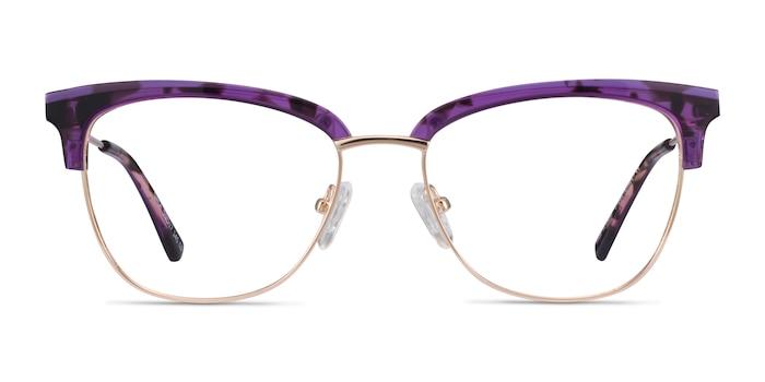 Gala Purple & Gold Acetate-metal Montures de Lunette de vue d'EyeBuyDirect