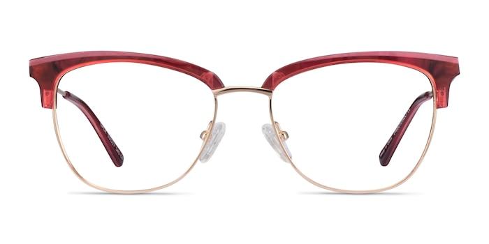 Gala Rapsberry & Gold Acetate-metal Eyeglass Frames from EyeBuyDirect