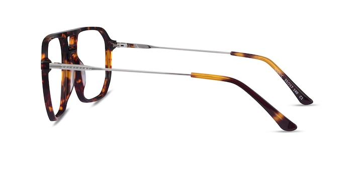 Iconic Tortoise & Silver Acetate-metal Eyeglass Frames from EyeBuyDirect