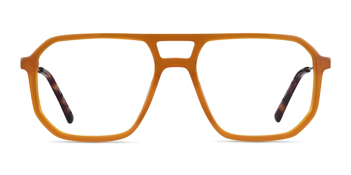 Iconic Mellow Yellow & Silver Acetate-metal Eyeglass Frames from EyeBuyDirect