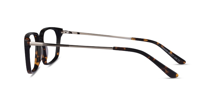 Fusion Tortoise Silver Acetate Eyeglass Frames from EyeBuyDirect