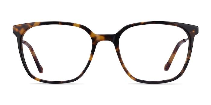 Confident Tortoise Silver Acetate Eyeglass Frames from EyeBuyDirect