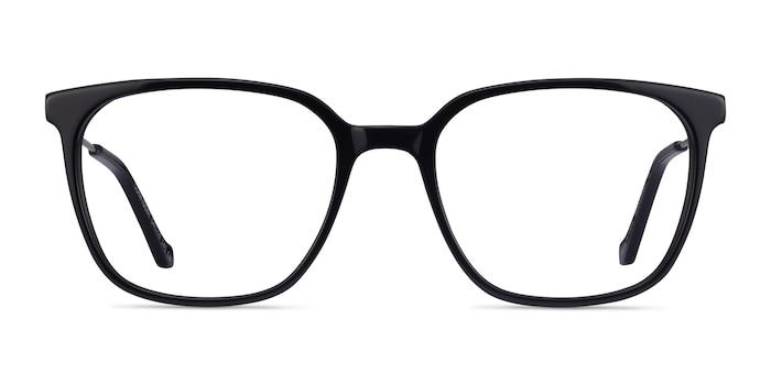 Confident Black Silver Acétate Montures de lunettes de vue d'EyeBuyDirect