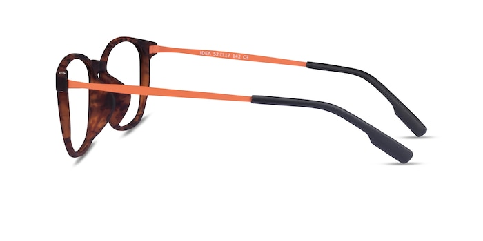 Idea Matte Tortoise Orange Plastique Montures de Lunette de vue d'EyeBuyDirect