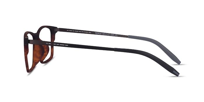 Rebus Matte Tortoise Black Plastic Eyeglass Frames from EyeBuyDirect