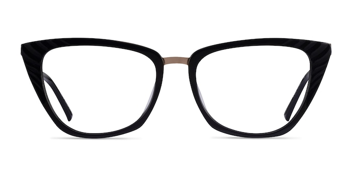 Trenta Black Gold Acetate Eyeglass Frames from EyeBuyDirect
