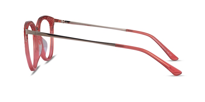 Momentous Clear Pink Acetate Eyeglass Frames from EyeBuyDirect