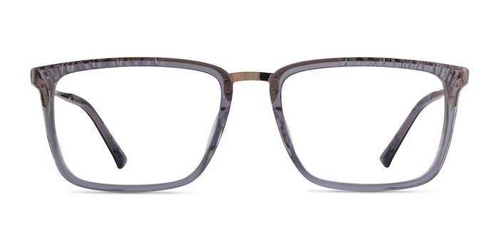 Volume Clear Gray Acetate Eyeglass Frames from EyeBuyDirect