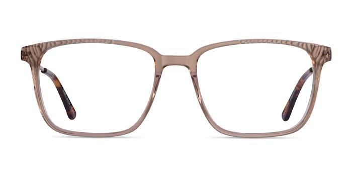 Venti Clear Brown Acetate Eyeglass Frames from EyeBuyDirect