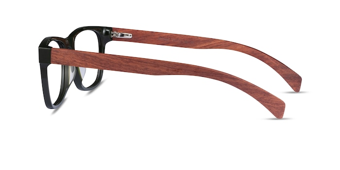 Reserve Green & Red Wood Wood-texture Eyeglass Frames from EyeBuyDirect