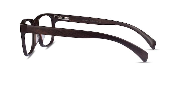 Reserve Brown & Dark Wood Wood-texture Montures de lunettes de vue d'EyeBuyDirect