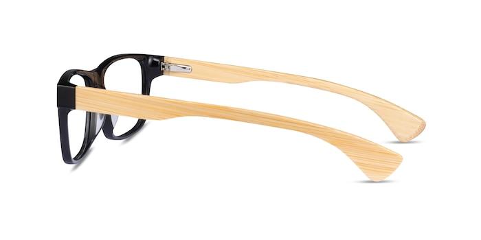Taiga Black & Light Wood Wood-texture Eyeglass Frames from EyeBuyDirect