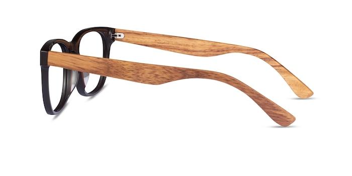 Tongass Dark Brown & Wood Wood-texture Eyeglass Frames from EyeBuyDirect