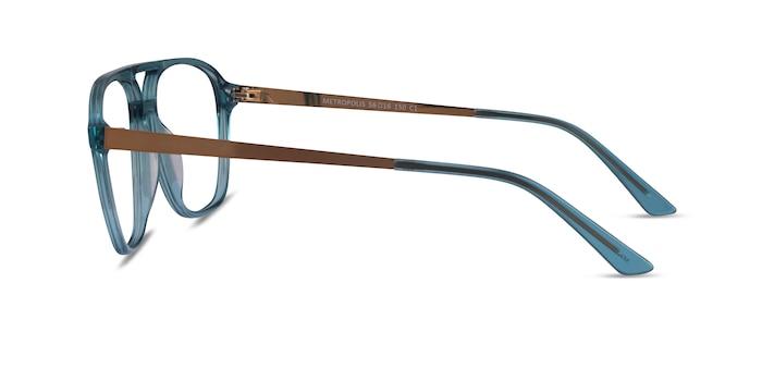 Metropolis Teal Acetate Eyeglass Frames from EyeBuyDirect