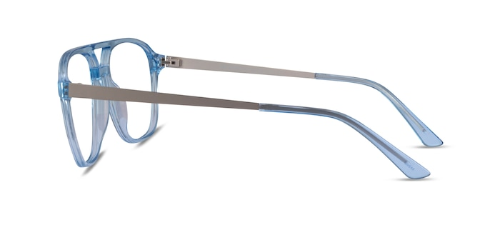 Metropolis Clear Blue Acetate Eyeglass Frames from EyeBuyDirect