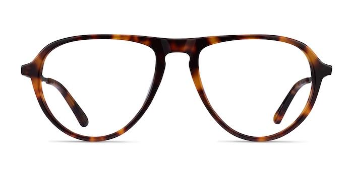 Stratosphere Tortoise Gunmetal Acetate Eyeglass Frames from EyeBuyDirect