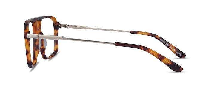San Diego Tortoise Silver Acetate Eyeglass Frames from EyeBuyDirect