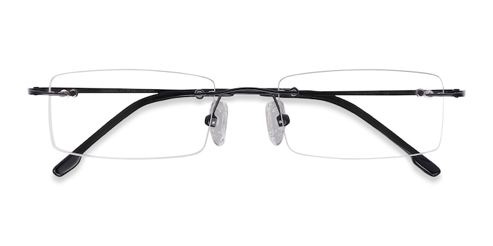 Black Billings -  Lightweight Metal Eyeglasses