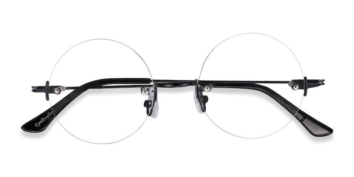 Black Palo Alto -  Designer Metal Eyeglasses