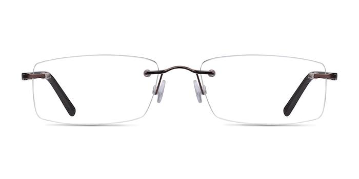 Edison Brown Metal Eyeglass Frames from EyeBuyDirect