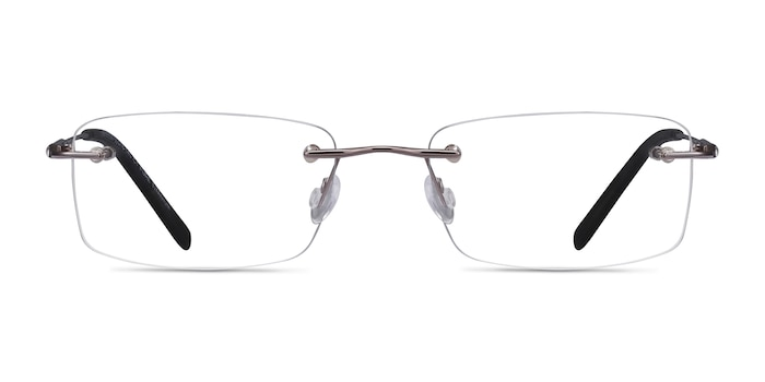 Dimension Gunmetal Titanium Eyeglass Frames from EyeBuyDirect