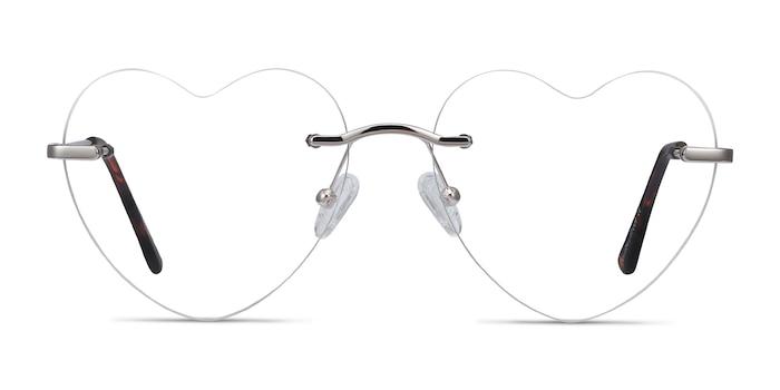 Amore Silver Metal Eyeglass Frames from EyeBuyDirect