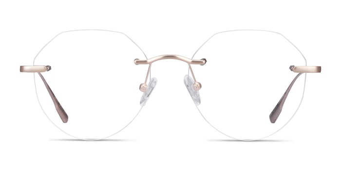 Sahar Gold Metal Eyeglass Frames from EyeBuyDirect