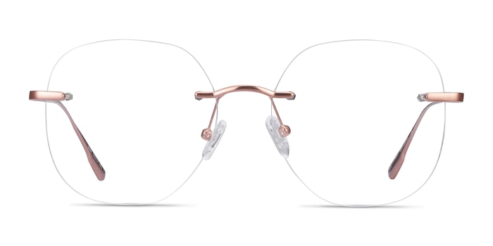 Lisa Rose Gold Metal Eyeglass Frames from EyeBuyDirect