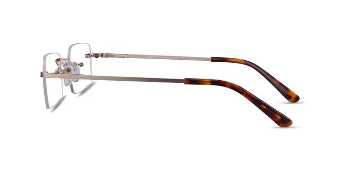 Simplicity Gold Metal Eyeglass Frames from EyeBuyDirect