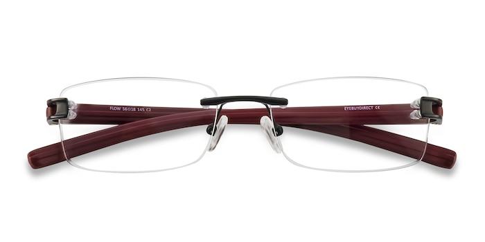 Black Burgundy Flow -  Acetate Eyeglasses