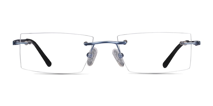 Primo Blue Metal Eyeglass Frames from EyeBuyDirect
