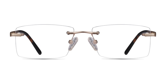 Noble Golden Metal Eyeglass Frames from EyeBuyDirect