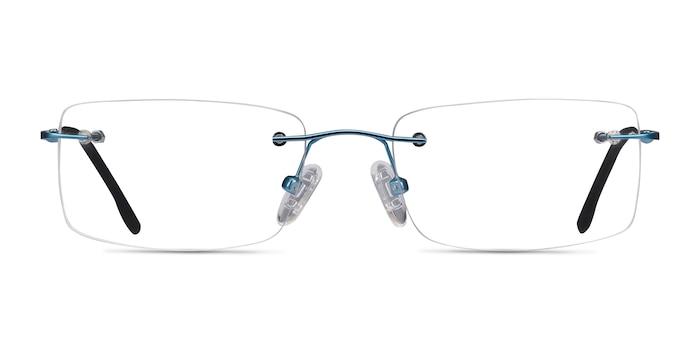 Woodrow Blue Metal Eyeglass Frames from EyeBuyDirect