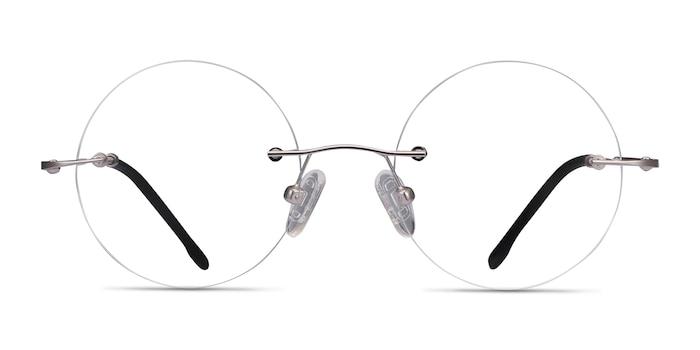 Altus Silver Metal Eyeglass Frames from EyeBuyDirect